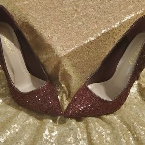 Two Toned Glitter Pumps